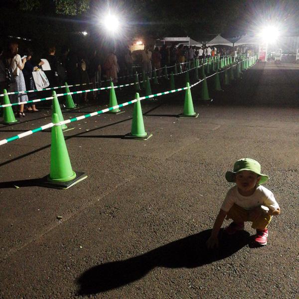 上野動物園のパンダ行列