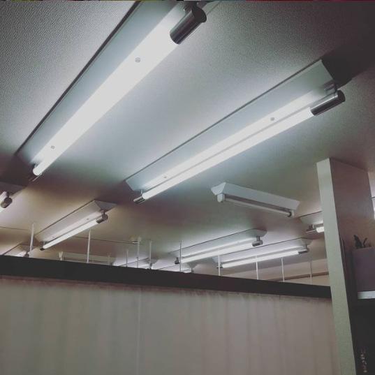 蛍光灯を入れ替えました。